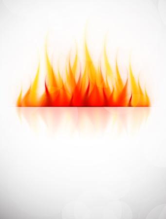 Achtergrond met vuur vlam Abstract heet illustratie Vector Illustratie