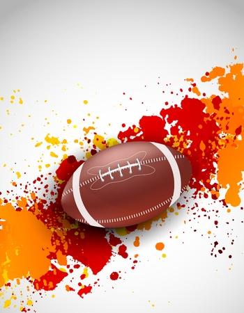 football match: Grunge background con palla astratto brillante illustrazione