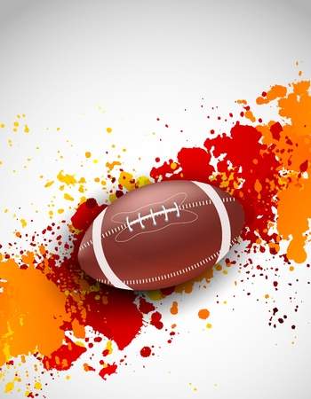 football american: Grunge background with ball  Abstract bright illustration