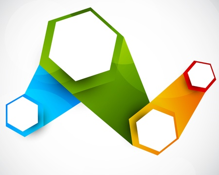 hexagon background: Abstract background with hexagons  Bright colorful illustration