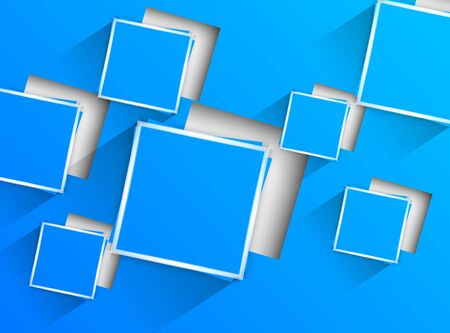 techno background: Blue background with blue squares  Abstract illustration