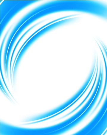 smooth curve design: Bright blue background  Abstract colorful illustration