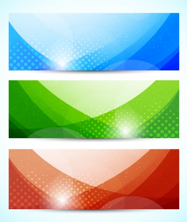 Set of tech banners  Abstract colorful illustration Stock Vector - 17994478