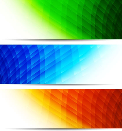 Set of tech banners  Abstract colorful illustration Stock Vector - 17994452