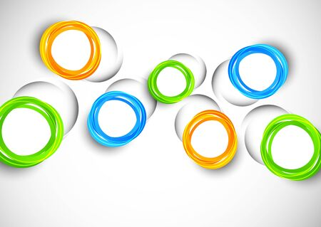 to cut out: Abstract background with cut out colorful circles Illustration