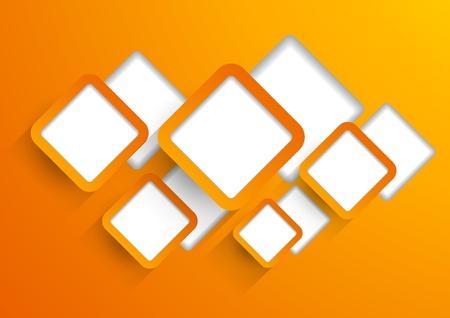 orange cut: Antecedentes ingenio naranja cortada cuadrados Vectores