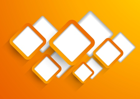 Background wit orange cut out squares Vector
