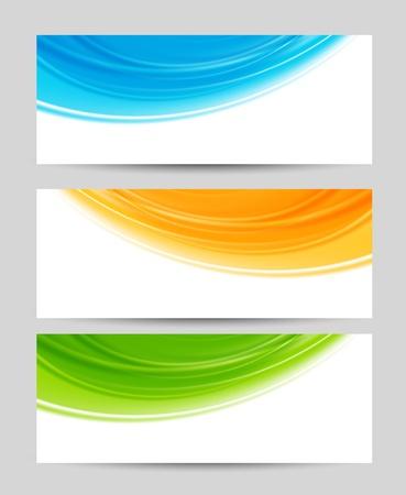header: Set di striscioni colorati Illustrazione astratta Vettoriali