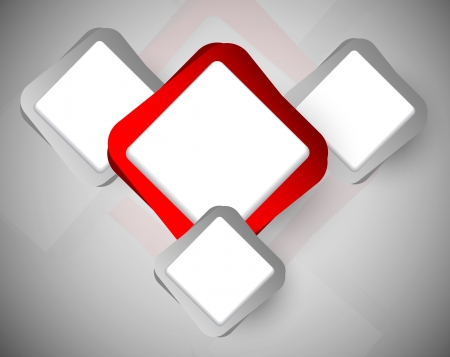 Abstract background with red and gray squares Vector