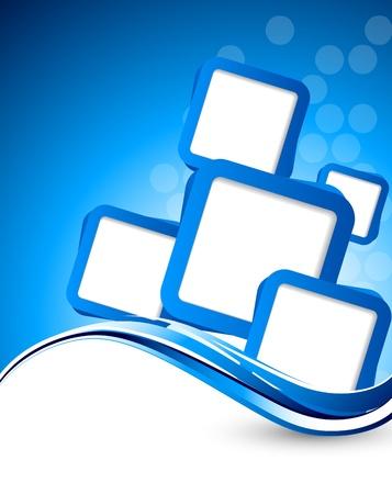 fondos azules: Fondo abstracto ondulado con cuadros azules