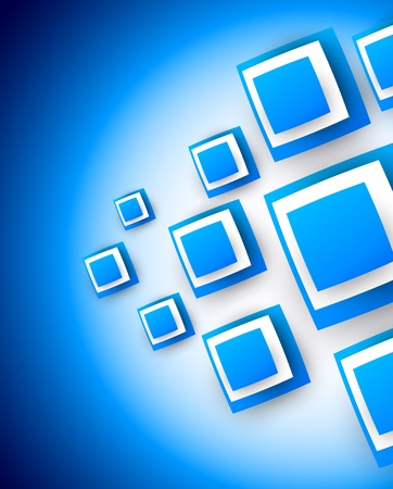 Blue background with squares  Abstract illustration Vector