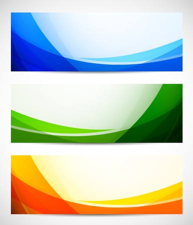 technology banner: Set of abstract banners  Bright illustration