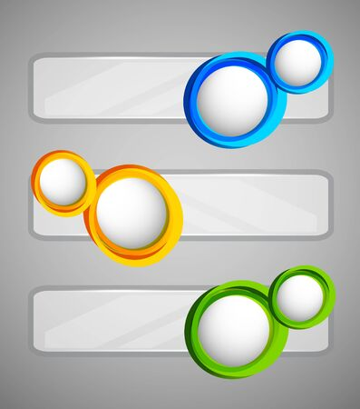 Set of banners with circles  Abstract illustration Stock Vector - 18166713