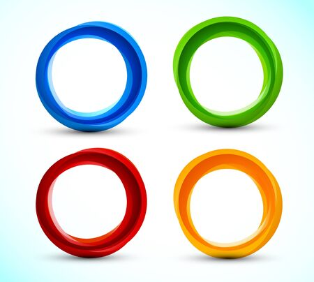 Set of colorful circles  bright illustration Vector