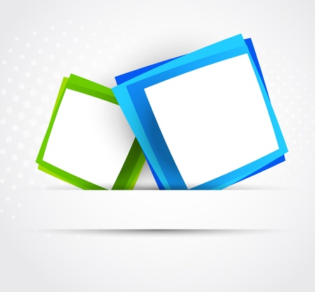 Blue and green squares  Abstract illustraiton Vector