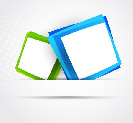 illustraiton: Cuadrados azules y verdes Resumen illustraiton