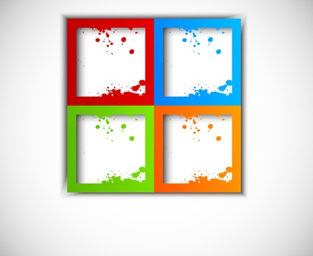 Colorful grunge squares  Abstract illustration Vector
