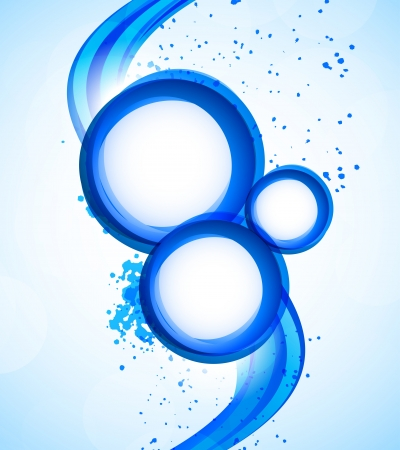 Background with blue circles  Abstract illustration Stock Vector - 18166762