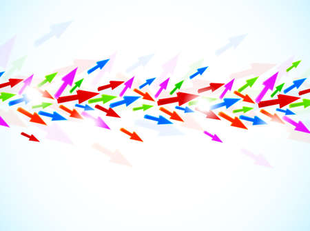 Background with colorful arrows  Abstract illustration Vector