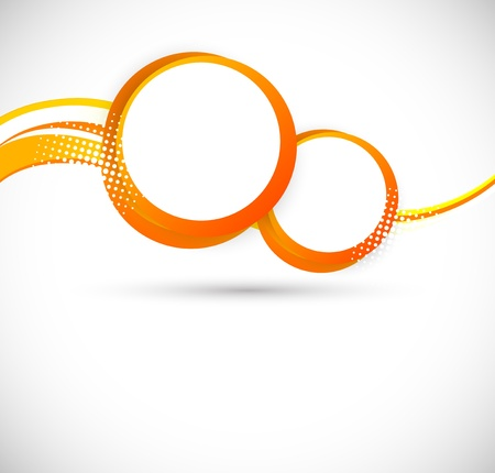 Background with orange circles  Abstract illustration Vector