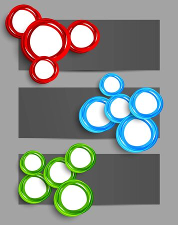 Set of banners with circles  Abstract illustration Vector