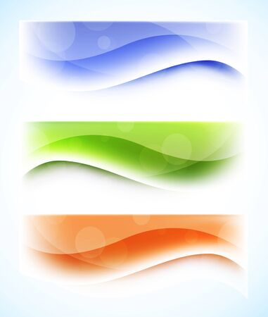 Set of wavy banners  Abstract illustration Stock Vector - 18166785