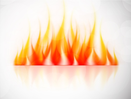 Background with fire. Abstract illustration Vector