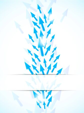 Abstract background with blue arrows. Bright illustration illustration