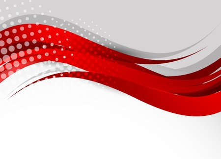 red wave: Background in red color. Abstract illustration Illustration