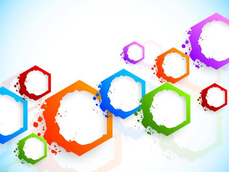 Background with colorful hexagons. Abstract illustration illustration