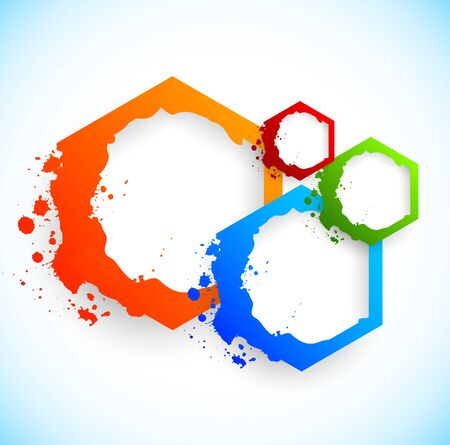 Colorful background with hexagons. Abstract illustration Vector
