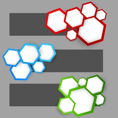 Set of banners with hexagons. Abstract illustration Stock Vector - 18422893