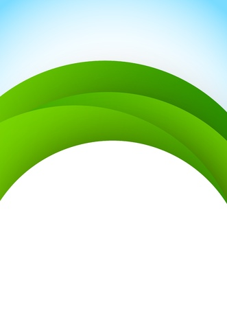 Abstract background with green arc Vector