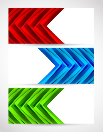 Set of abstract banners. Bright illustration Vector