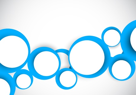 circle design: Background with blue circles. Abstract illustration