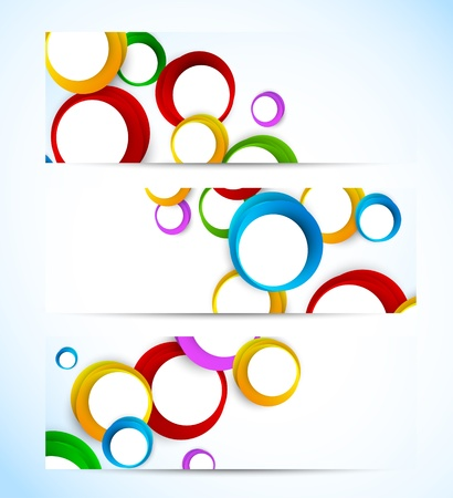 Set of banners with circles. Abstract illustration Vector