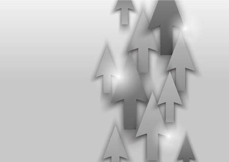 Background with gray arrows. Abstract illustration Vector