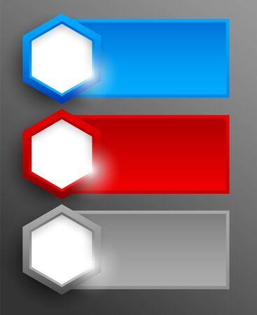 Set of banners with hexagons. Abstract illustration Vector
