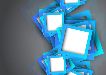 Abstract background with blue squares. Bright illustration Vector
