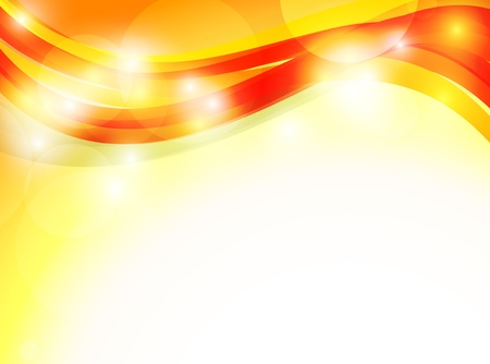 Abstract orange background. Bright illustration Vector