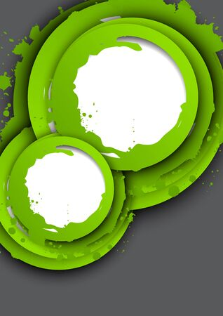 Background with green circles  Abstract illustration Vector