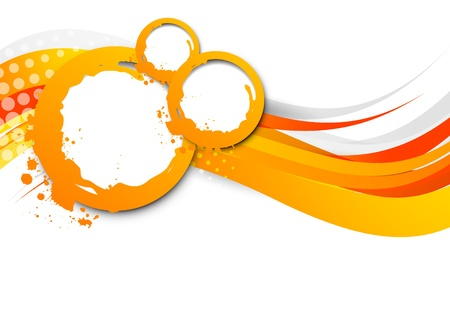 Abstract wavy orange background  Bright illustration Vector