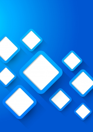 Background with blue squares  Abstract illustration Vector