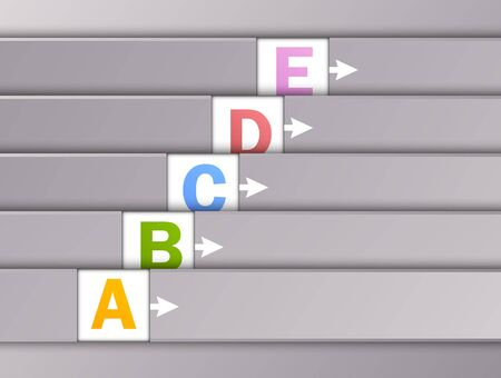 Set of numbered banners  Abstract illustration Vector