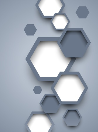 Background with hexagons  Abstract illustration Vector