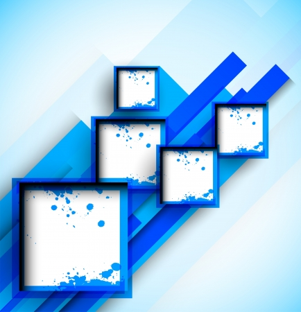 Abstract blue background with squares Vector