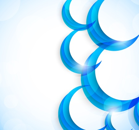 overlapping: Abstract bright background with circles Illustration