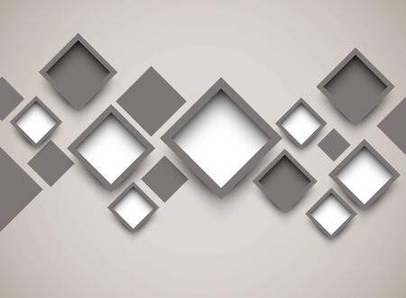 Background with squares  Abstract illustration Vector