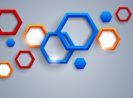 hexagon background: Abstract background with colorful hexagons