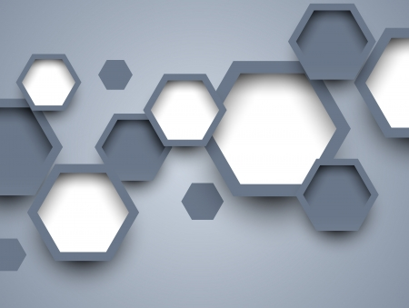 hi tech: Background with hexagons  Abstract illustration Illustration